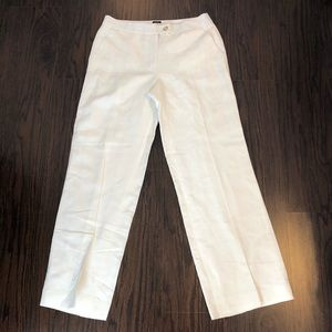 Talbots pants heritage linen blend women's size 8